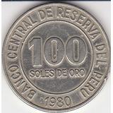 Perú, Antigua Moneda De Cu-ni  1,980