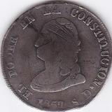 Moneda Predecimal Ecuador! 4 Reales 1857 Gj - Var: 8 Perlas