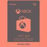 Codigo Xbox Live $5 De Saldo Gift Card