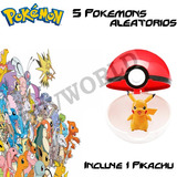 Pokemon Go 1 Pokebola Pokeball + Pikachu +5 Figuras Muñecos
