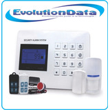 Kit Sistema Alarma Inalambrico Gsm Pstn Celular Control Remo