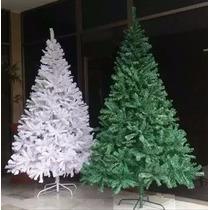 Arbol Navidad 210cm 1400ramas Verde Blanco Adornos Navideños