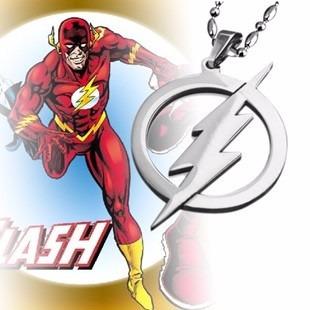fb08e01af934 Collar Flash Super Héroe Acero Inoxidable