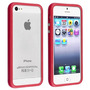 Bumper Silicon Para Iphone Apple 5 Usado Color Rojo