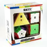 Pack Cubos Rubik Moyu Megaminx Pyraminx Skewb Sq1 + Regalo