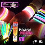 Glow Sticks , Brazaletes Luminosos, Pulceras 100 Unidades