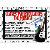 Clases Particulares De Guitarra,requinto,bajo Electrico, Etc