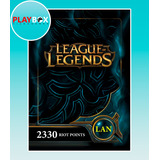 League Of Legends 2330 Riot Points Latinoamerica Norte Lan
