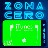 Código Tarjetas Itunes, Apps, Mac De $15 De Apple Store Usa