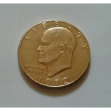 Dollar Eisenhower 1972 Chapado En Oro