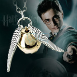 Harry Potter Cadena Y Dije Con Collar Snitch Dorada Qchvr