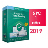 Kaspersky Total Security 5 Pc 1 Año 2019 2018