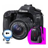 Canon 80d + 18-135mm + G R A T I S Mochila + Tripode + 128gb