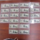 Billete 2 Dólares Conmemorativo De Los Estados. Encapsulado