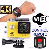 Camara Deportiva Go Pro + Control Pulsera Wifi Cam 4k Hd