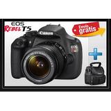 Camara Canon Profesional Eos T5 + Lente 18-55mm 18mp - 10/10