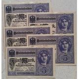 Alemania 5 Marcos 1917 Imperio Aleman Lote Billetes Original