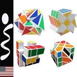 4 Cubos Rubik Magico - Fluctuation, Wheel, Mirror, Square.