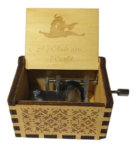 Caja Musical De Manivela Aladdin Un Mundo Ideal De Colección