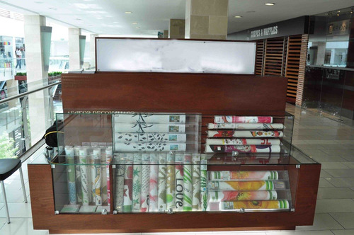 Mueble vitrina estantes tipo isla para centro comercial for Centro comercial el mueble catalogo