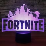 Lámpara Led 3d Fortnite Battle Royale Cambia De Color
