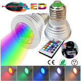 Foco Luz Led Multicolor Luces Rgb Control Remoto Decoración