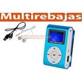 Reproductor Mp3 Deportivo Shuffle Pantalla Lcd Micro Sd