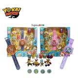 Caja Reloj Yokai Watch Con Luces + 10 Figuras + 4 Medallas