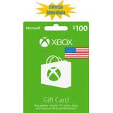 Tarjetas De Recarga Xbox Gift Card - Xbox Live $100