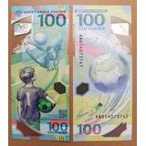Rusia 100 Rublos 2018 Mundial De Futbol