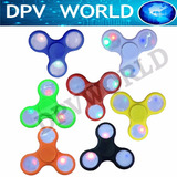 Spinner Fidget Luces Led Juguete Abs Antiestres Quita Ansied