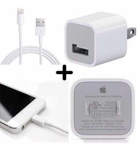 f28c72cffa0 Cargador Original iPhone Xs Max X 8 7 6 Cable + Cubo Apple