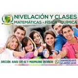 Nivelaciones Y Clases De Matemáticas, Cálculo Física Química