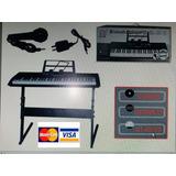 Piano Electrónico 5 Octavas Incluye Pedestal Y Soporte Notas
