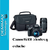 Canon T6 Kit Lente 18 55mm / 75 300mm/ Maleta Canon Original