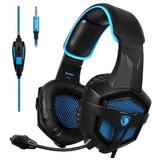 Auricular Microfono Headset Pc Gamers Sades Sa-807 Xbox Ps4