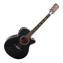 Guitarra Crusader Electroacustica 40 /negro Satin
