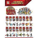 Colección Avengers Infinity War 16 Mini Figuras Tipo Lego