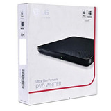 Lg Ultra-slim Portable Dvd Writer, Gp65nb60  Black