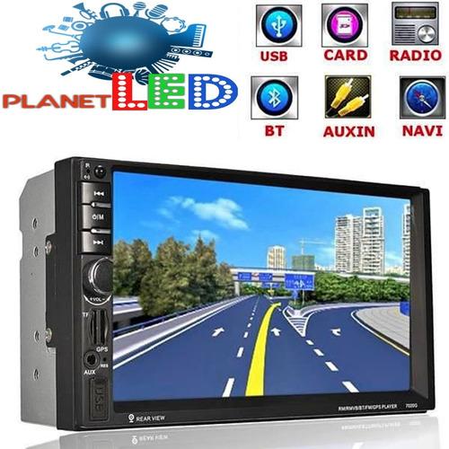 Radio Gps Pantalla Doble Din Touch Bluetooth Cd Usb Aux Tv