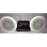 Kit Amplificador  Musica Ambiental + 2 Parlantes De Techo