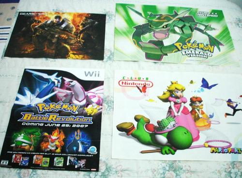 Afiches Club Nintendo, Re4, Mario Party, Pokemon
