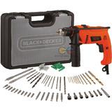 Black & Decker Kit 72 Piezas Taladro Percutor 1/2¨ 13mm