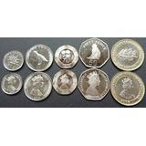 Gibraltar Europa  Juego De 5 Monedas Flamantes Serie