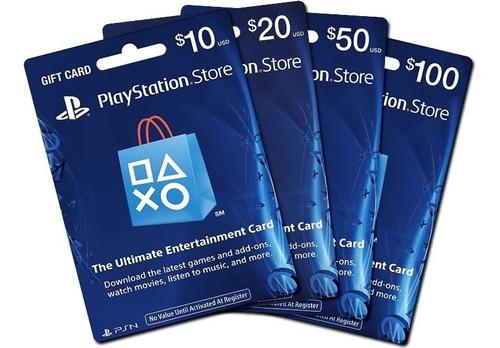 Tarjetas Prepago Playstation Network Card Usa Psn 50 10 20