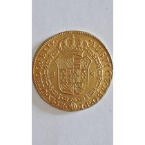 Moneda Antigua De Ochos Cubos 1807 De Oro Santiago De Chile