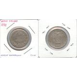 Monedas Mundiales. Ecuador Medio Décimo 1884 Vf+