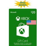 Tarjetas De Recarga Xbox Gift Card - Xbox Live $20