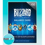 Blizzard Battlenet Gift Card $50 Tarjeta De Regalo