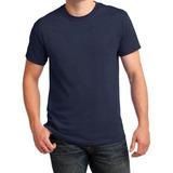 Camiseta A Color De Algodon Peinado Economicas Sublimacion